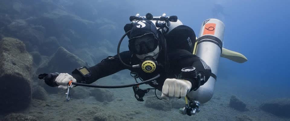 Padi TecRec dive center technical diving Tenerife