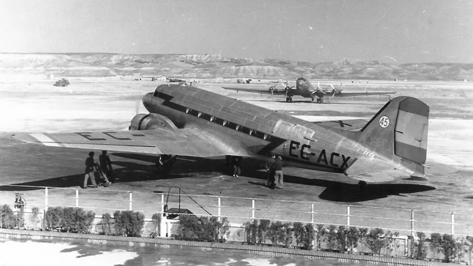 dc 3 airplane wreck iberia spantax ec acx