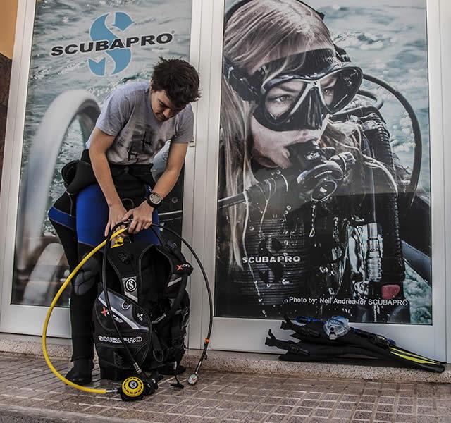 dive equipment rental