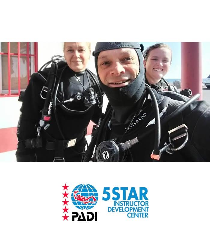 dry suit diver padi scuba diver training tenerife