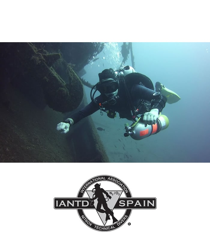 iantd advanced rec trimix diver Tenerife