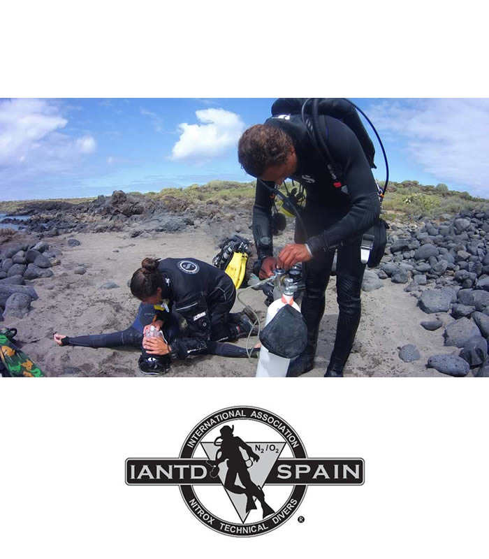 iantd rescue diver training tenerife