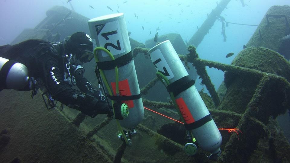 iantd wreck diver course tenerife