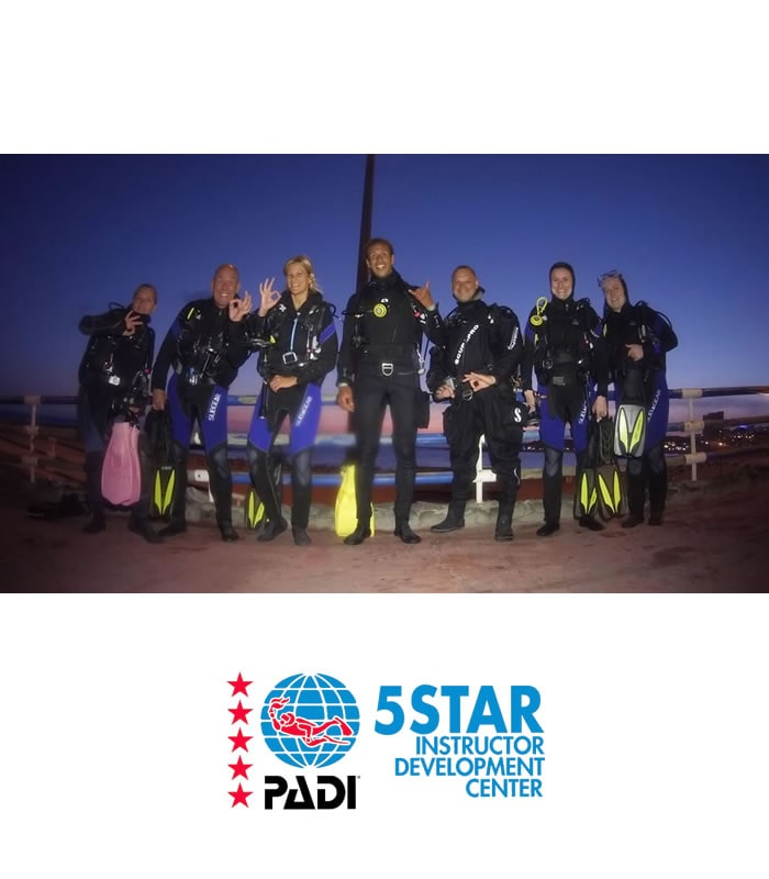 night diver padi scuba diving course tenerife