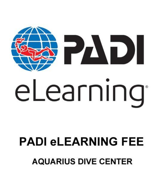 PADI eLearning registration fee
