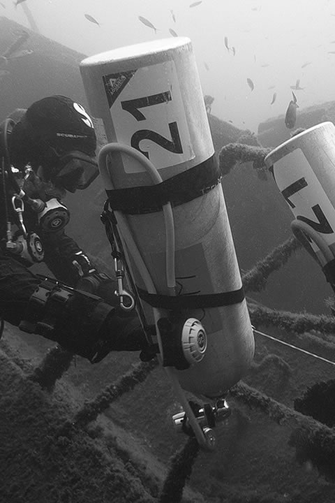 padi tech diving tecrec dsat in tenerife