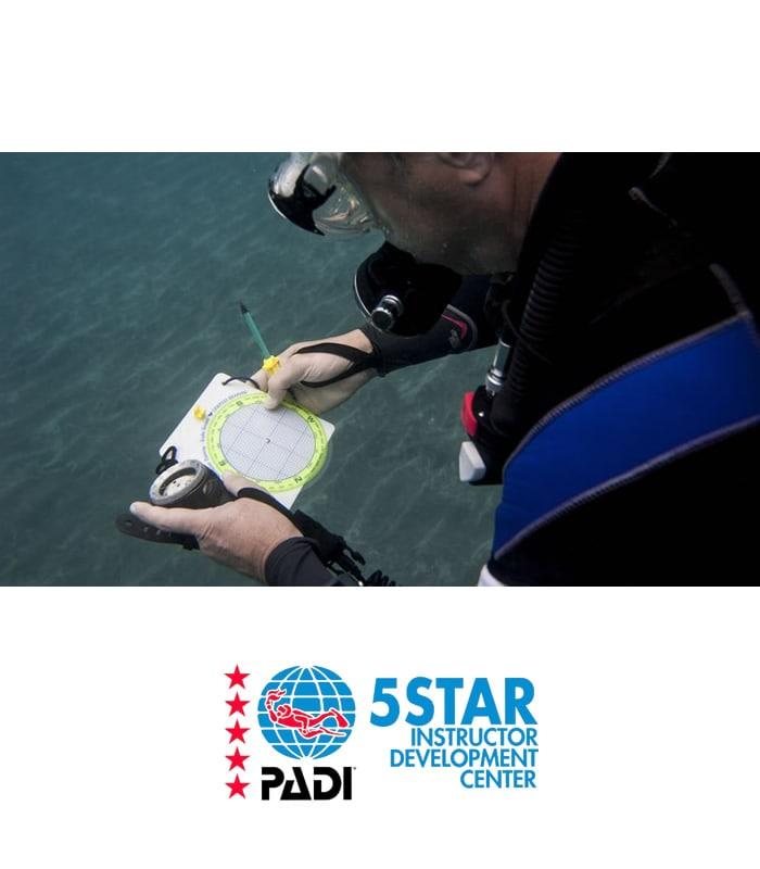 underwater navigator padi scuba diver training tenerife