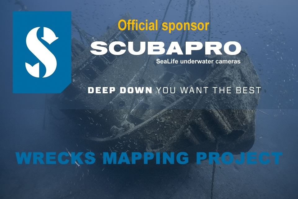 wrecks mapping project sponsored by Scubapro